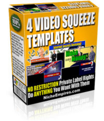 Product picture 4 Video Squeeze Pages (with PLR)