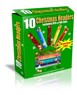 Product picture 10 Christmas Headers MRR!